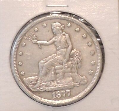 1877 S Silver trade Dollar, San Francisco Mint $1 Coin-From an Old Estate