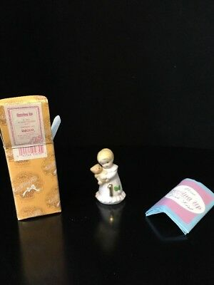 "Enesco Growing Up Girls Blonde Age 1 Porcelain Figurine, 1.75"" NEW IN BOX!"