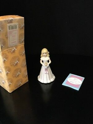 Enesco Growing up Birthday Girl Blonde Age 8 Year NEW IN BOX! Free Shipping!
