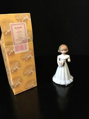 Enesco Growing up Girls age 6 #6 6th BRUNETTE Figurine NEW MIB
