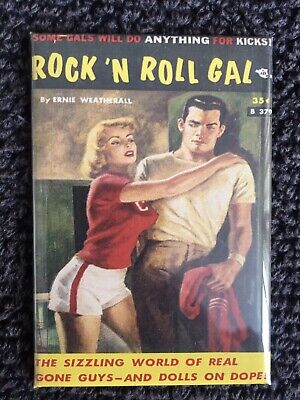 Rock and Roll Gal FRIDGE MAGNET 6x8 Pulp Art Magnetic Poster CANVAS Print