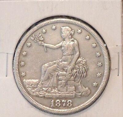 1878 S Silver trade Dollar, San Francisco Mint $1 Coin-From an Old Estate