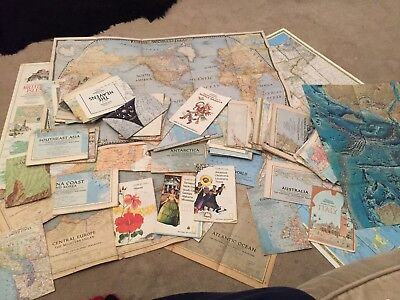 Vintage National Geographic Map Collection (80 Maps)
