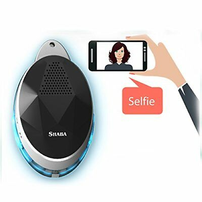 Wearable Speaker with neck strap, SHABA Smart Bluetooth Speaker with Selfie LED