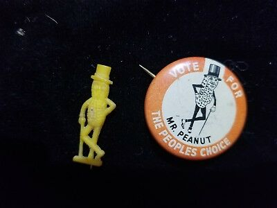 Mr. Peanut pins - Vote for and small pin