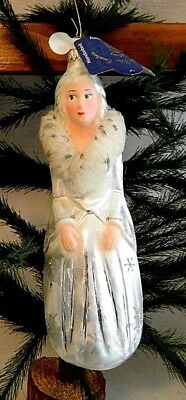 Lauscha Glas  Jadis The White Witch Blown Glass Christmas Tree Ornament  Germany