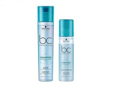 Schwarzkopf Bc Hyaluronic Moisture Kick Shampoo 250ml + Spray Conditioner 200ml