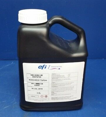 3.5L Bottle - Genuine EFI Jetrion 4000/4830 Printing Yellow Ink - Exp 07/2019