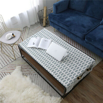 Leaf Printed Cotton Linen Coffee Table Cover Tablecloth Rectangular Table Cloth