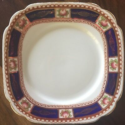 Royal Albert Crown China 'Trigo' side plate vintage antique free post~~