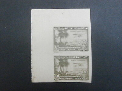 1930 Spain block 2 mint 10c postage stamps - Spanish-American Exhibition Seville