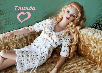 """Handmade Outfit dress necklace for Tonner FR16  doll 16"""" fashion doll dress OOAK"""