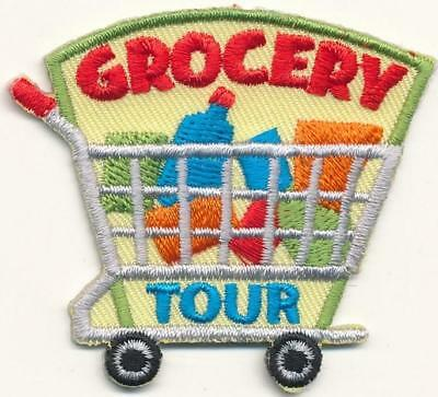 Girl Boy Cub GROCERY TOUR Shopping Store Patches Crests Badges SCOUT GUIDE Visit