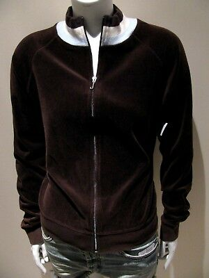 8b10ead109bf Juicy Couture Chocolate Brown Soft Velour Tracksuit Jacket Women s Size XL  NEW