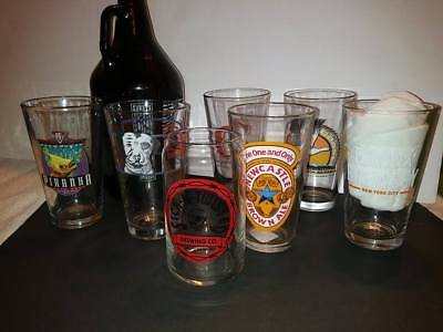 Lot of 7 Brewing Company Pint Glasses