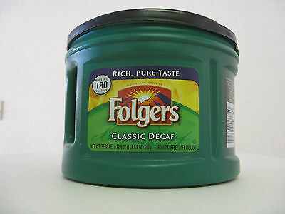 22oz Empty Green Folgers Plastic Coffee Can Container Kitchen Storage
