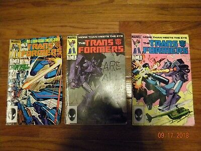 Marvel Comics The Trans Formers #4,5,6