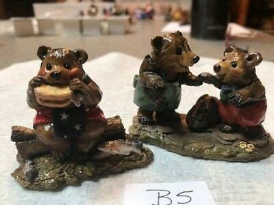 Wee Forest Folk Bears, 2 pieces