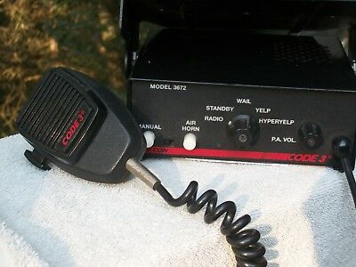 V-Con Code 3 Model 3672 with mic, siren and switching center.