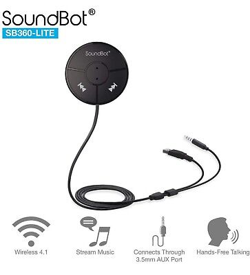 Soundbot Sb360 Lite Bluetooth Wireless 4.0 Car Kit Hands-Free Wireless Talking