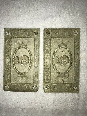 Swiss Banknotes (Lot Of 2) WWII Era 5 Francs