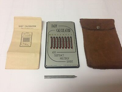 Vintage Baby Calculator, Original Faux Leather Case, Stylus, and Instructions