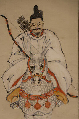 JAPANESE HANGING SCROLL ART Painting  Asian antique  #E3956
