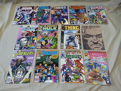 Lot of 13 Copper Age Marvel Comics: Avengers, Thing, X-Men, Hulk ++ 1980s-1990s