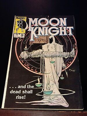 1984 MOON KNIGHT #38 final issue of the first ongoing series FN+ Fine+ Fine