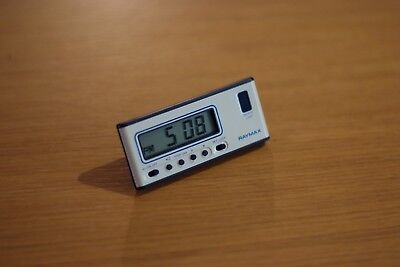 Vintage Raymax Digital Travel Clock with Case, Retro, Mint Condition, Works Rare