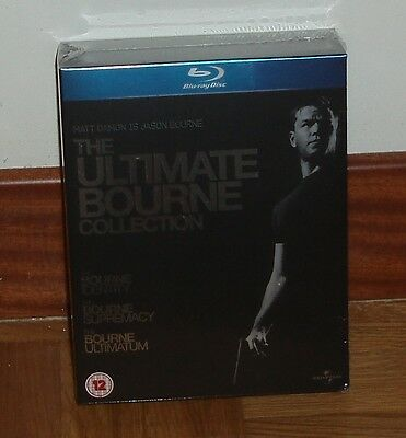 The Trilogy Of Bourne Pack 3 Blu-Ray New Sealed(Spanish)-New-Sealed
