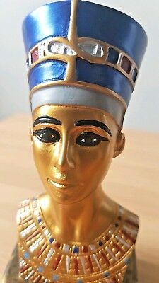 """4"""" Ancient Egyptian Queen MINI Bust Statue Figurine Egypt Decoration New"""