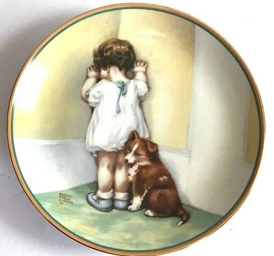1985 Bessie Pease Gutmann 'in Disgrace' Hamilton Collector Porcelain Plate