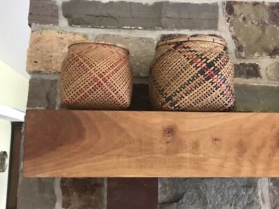 2 Old and fragile Native American Indian Baskets (Idaho)