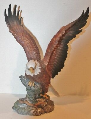 "VTG RGI Bald Eagle Figurine Statue Porcelain Bald Eagle - 1993 - 15"" Tall - EUC"