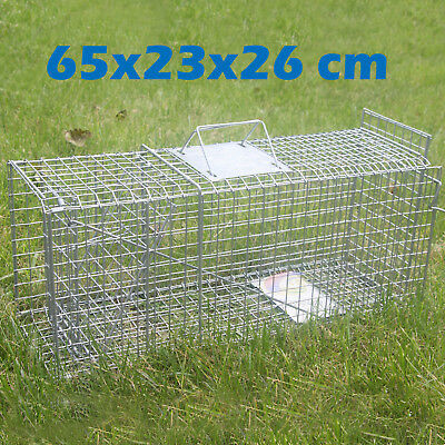 NEW TRAP Humane Possum Feral Cat Rabbit Bird Animal Dog Hare Fox Cage Live Catch