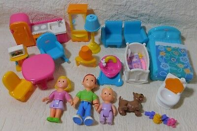 Fisher Price My Loving Family Figure Furniture Accessory Lot 60