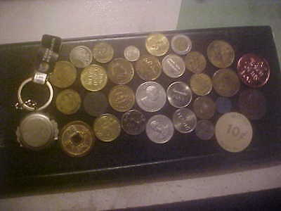 Lot Of 31 Coins And Token World & Us Plus Misc.