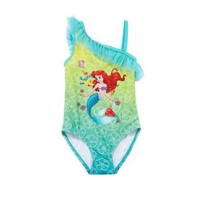 NWT Disney Deluxe The Little Mermaid Ariel Swimsuit Ruffle Toddler Girls Size 2T