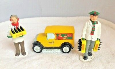 """Coca Cola Town Square Collection """"Stocking Up"""" Delivery Men & Truck Lot ~ 1992"""