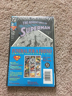 Superman Funeral for a Friend Sealed Collector's Set