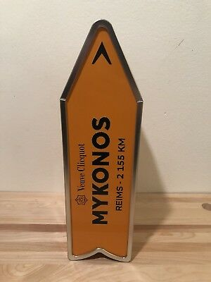 Veuve Cliquot Arrow Collectible Champagne Tin Mykonos Journey Street Sign (Only)