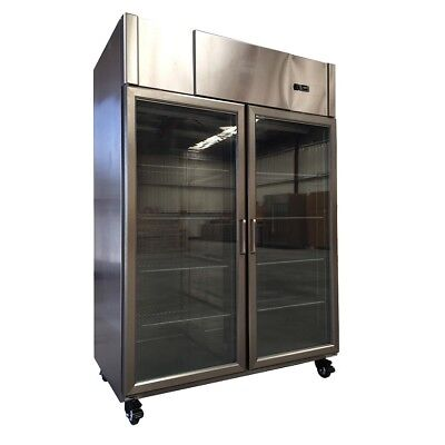 Upright Freezer Glass Door 1220L with Embraco Compressor