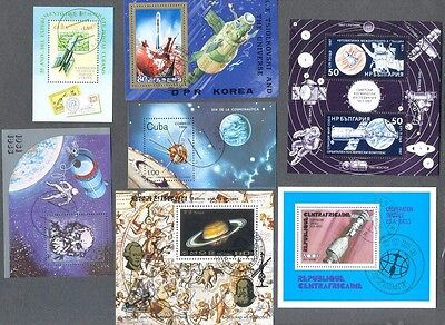 Space 25 Miniature sheets all different collection