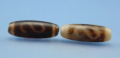 25*9 mm Antique Dzi Agate old Bead from Tibet **Free shipping**