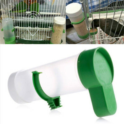 Bird Pet Drinker Food Feeder w/ Clip for Aviary Cage Budgie Lovebirds Parrot New
