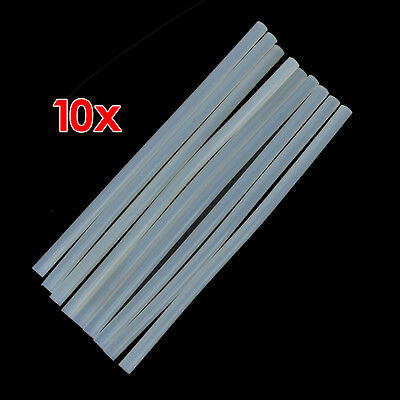 10pcs Translucence Hot Melt Glue Sticks Size 270mm x 11mm C5Y4