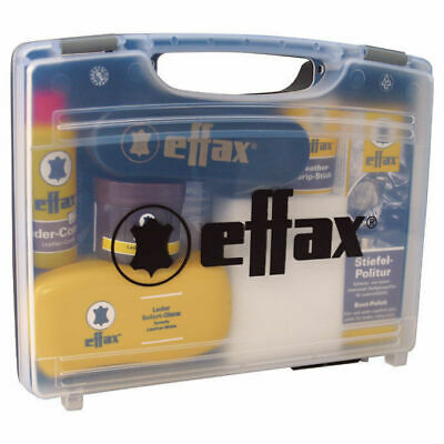Effax Complete Leather Care Kit Compact Boots Shoes Polish Restore In Case 9 Pc