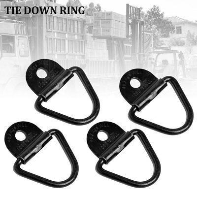 Lashing D Ring Zinc Plated Tie Down Anchor Point Ute Trailer 4Pcs 60 X 60Mm