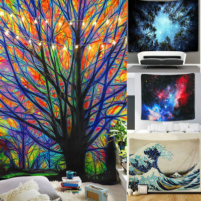 Tree Print Tapestry Wall Hanging Tapestry Art Festival Dorm Home Decor Colorful
